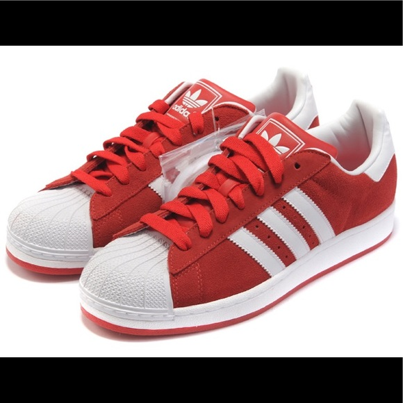 0f23ae1cf82 Men s adidas superstar red and white size 11.5
